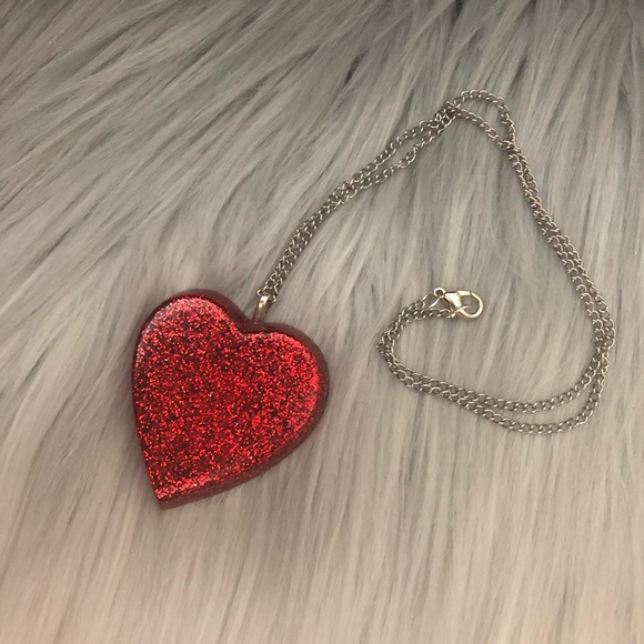 Large Heart resin necklace